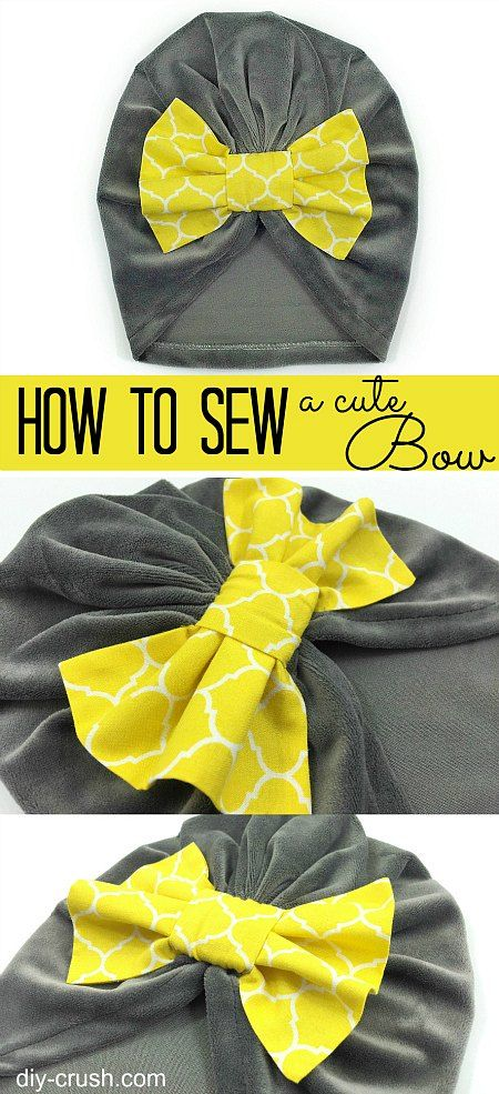 How to sew a cute bow