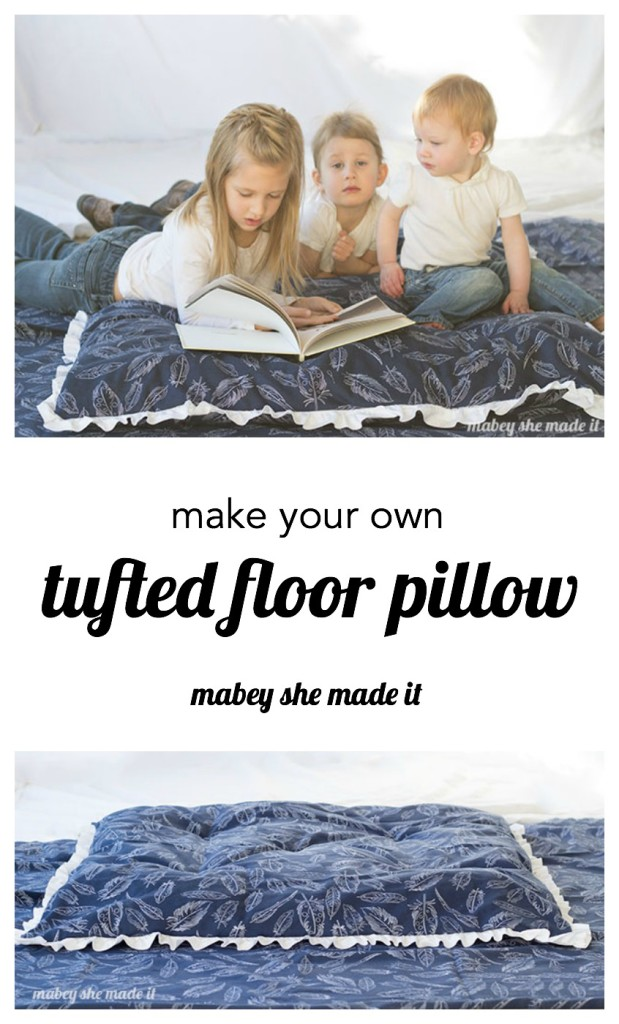Tufted floor pillow tutorial