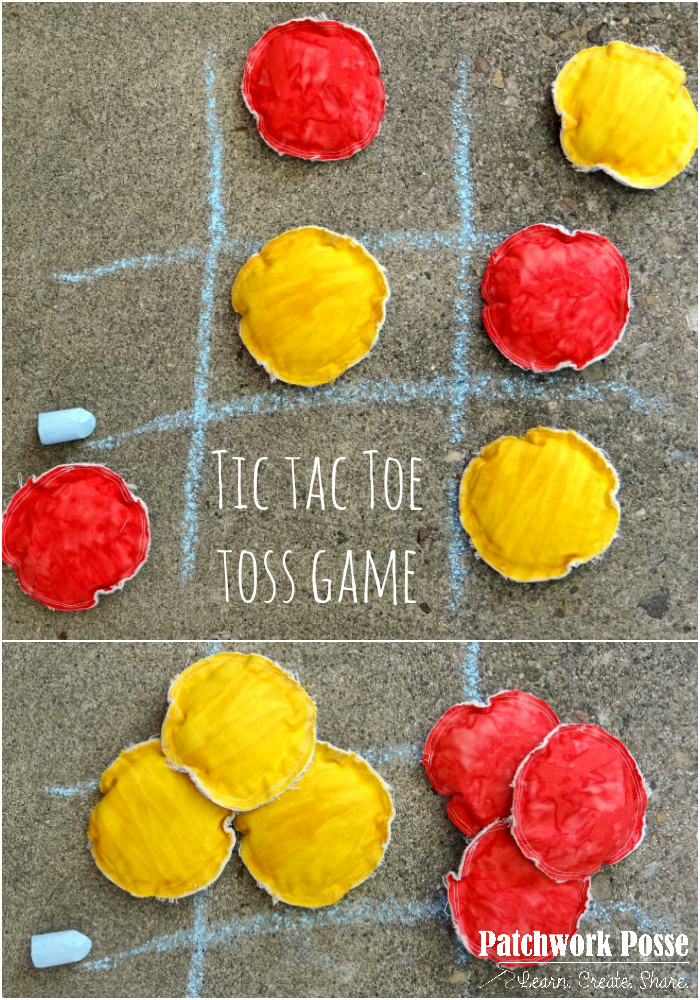 How to sew a tic tac toe game
