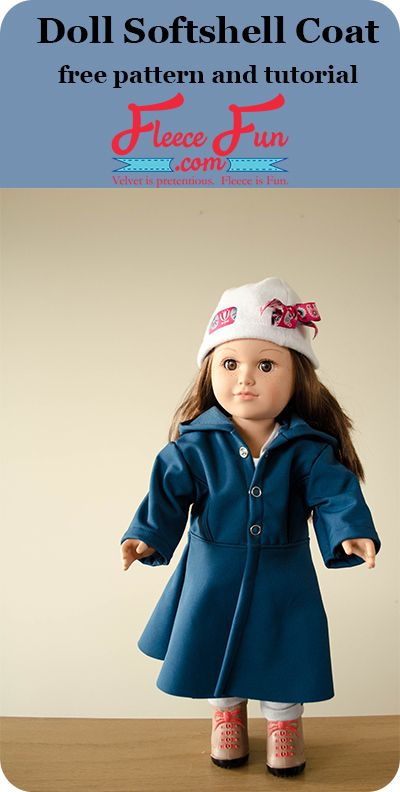 Doll softshell coat tutorial