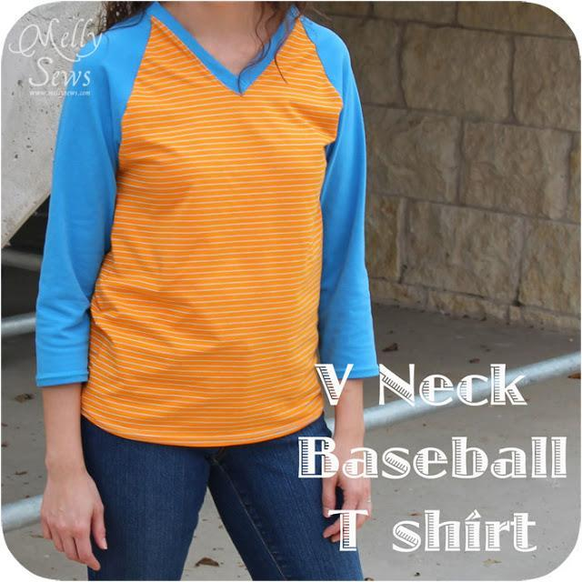 V-Neck Baseball Shirt pattern
