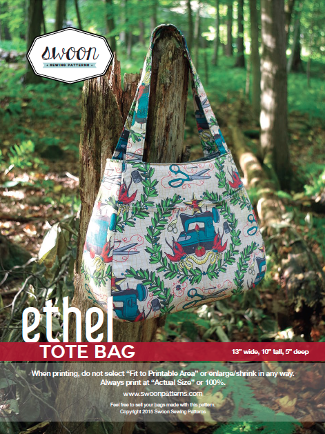 Teardrop Tote Bag pattern