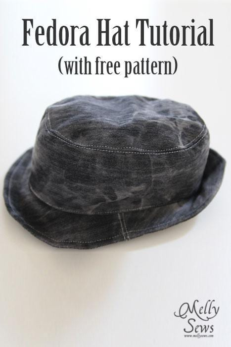 Fedora hat free pattern sewing 4 free