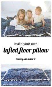 Tufted floor pillow tutorial