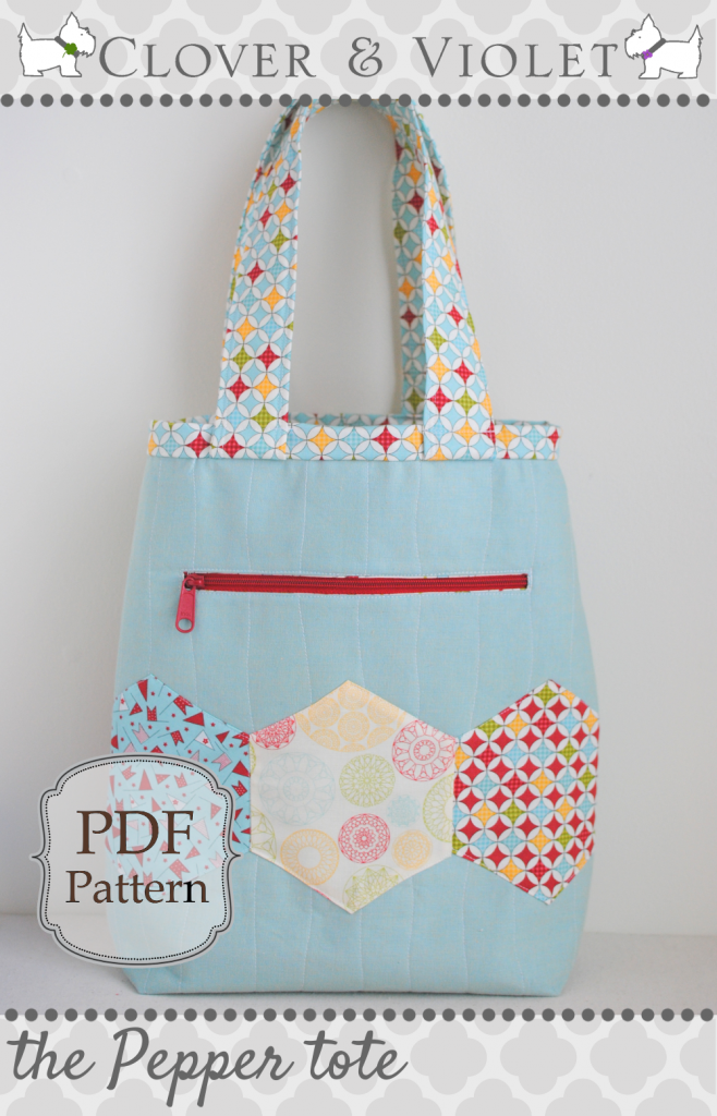 Pepper Tote Bag tutorial