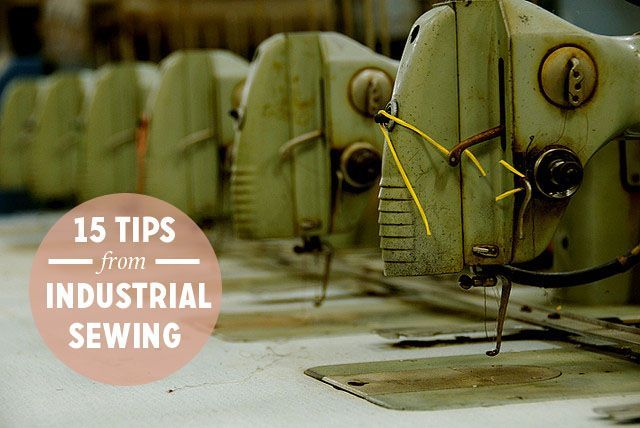 Things to learn from industrial sewing
