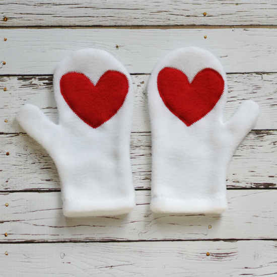 Hearts Mittens Tutorial
