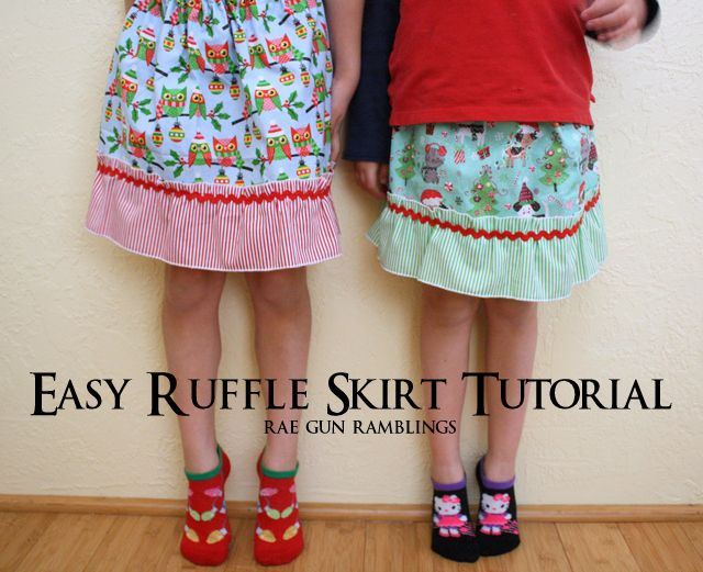Kids Ruffle Skirt Tutorial
