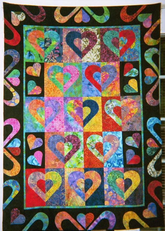 Hearts on Fire quilt pattern