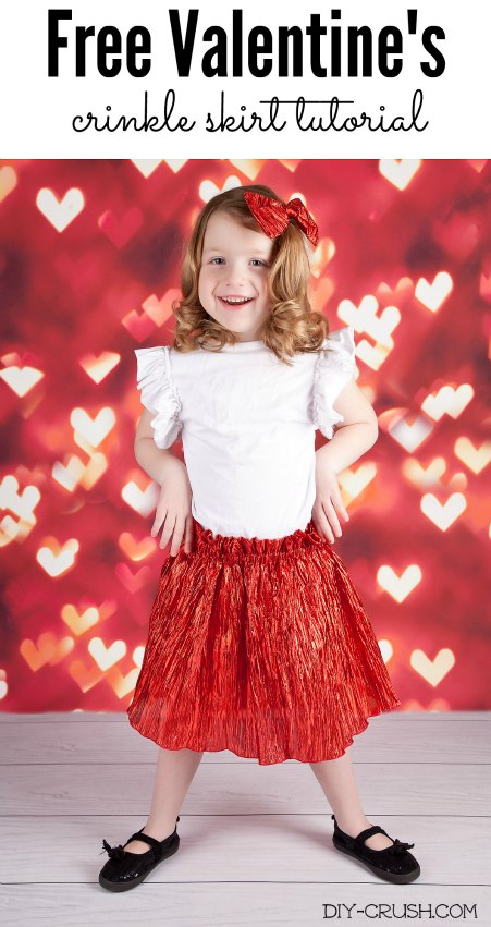 Valentine's Day skirt tutorial