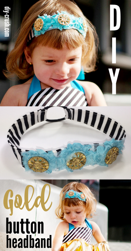 Gold Button Headband Tutorial