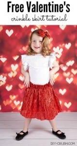 Valentine's Day skirt tutorial