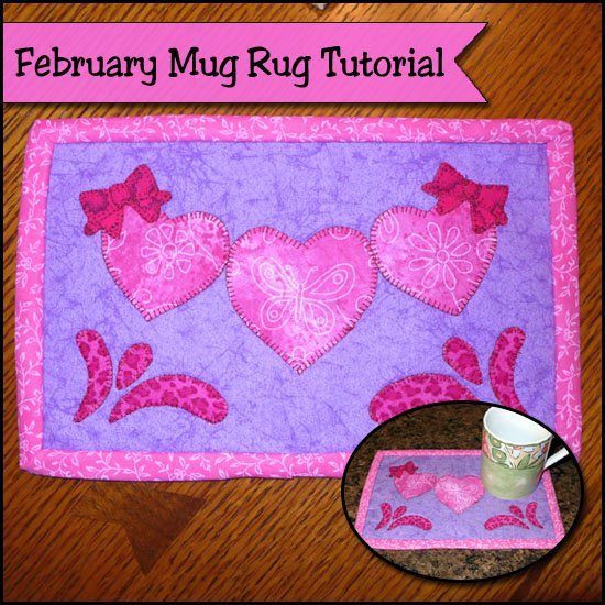 Valentines Mug Rug tutorial
