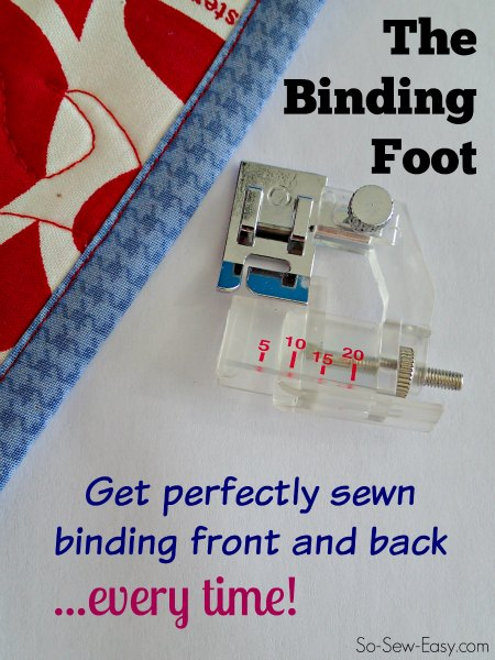 How to use a binding foot
