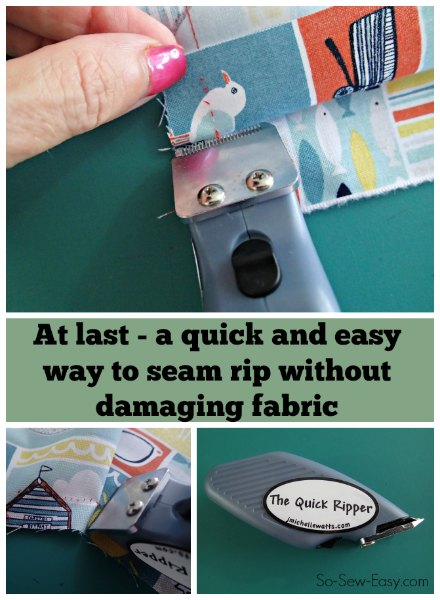 How to use an electric seam ripper