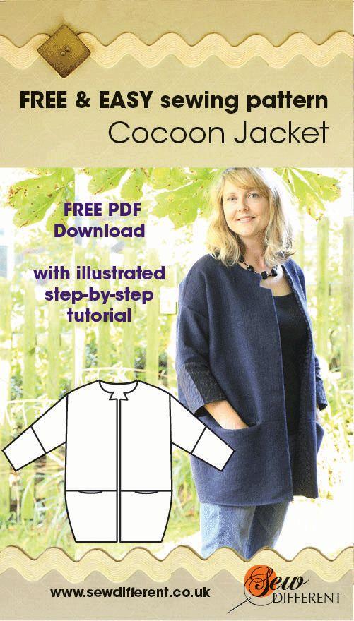 Cocoon jacket free pattern