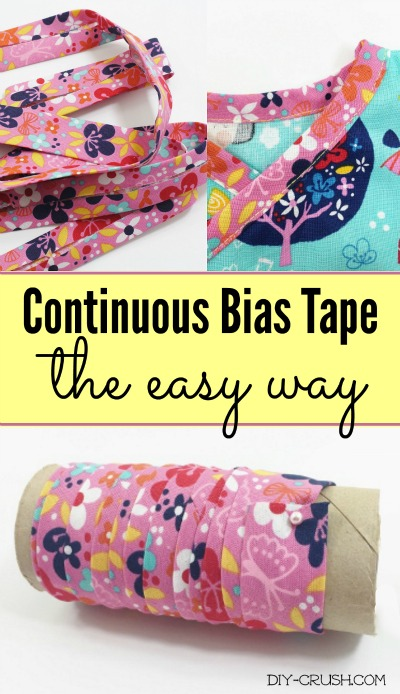 Easy way to make continuous bias tape