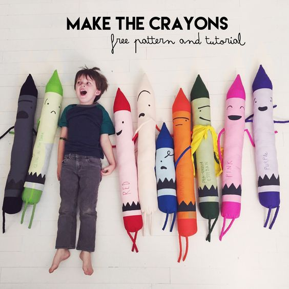 Crayons sewing tutorial