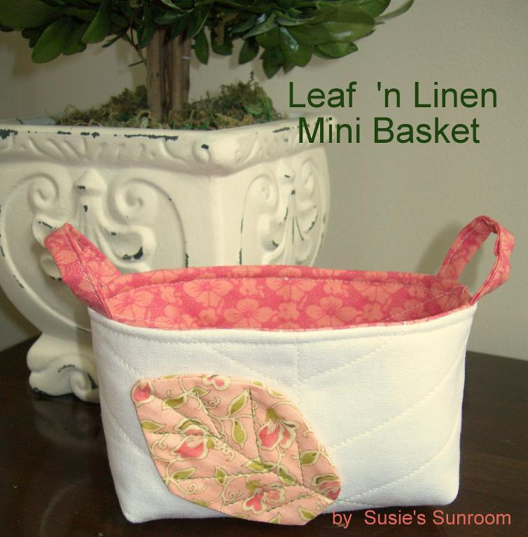 Linen basket tutorial