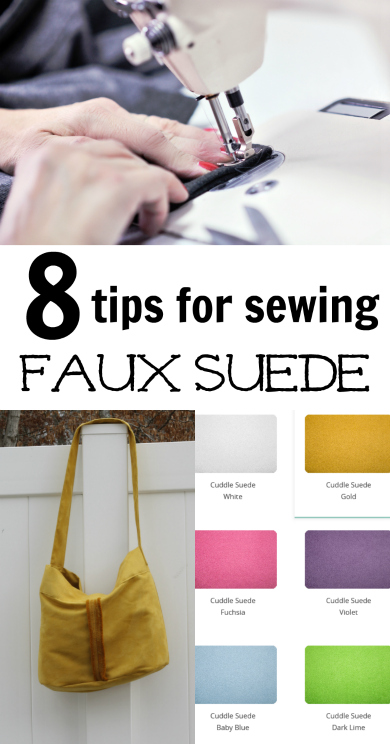 Tips for sewing faux suede
