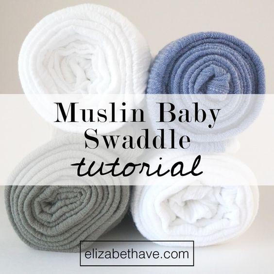 Muslin baby blanket tutorial
