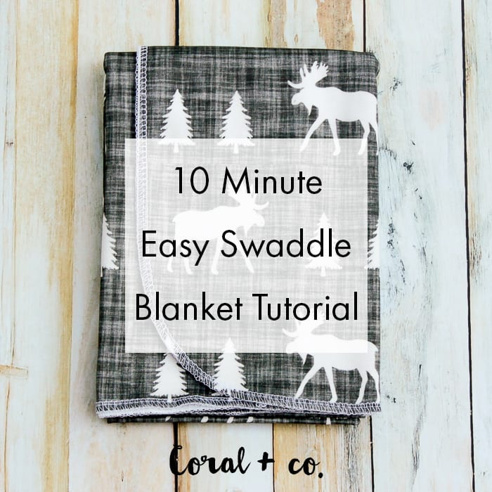 Baby swaddle blanket pattern