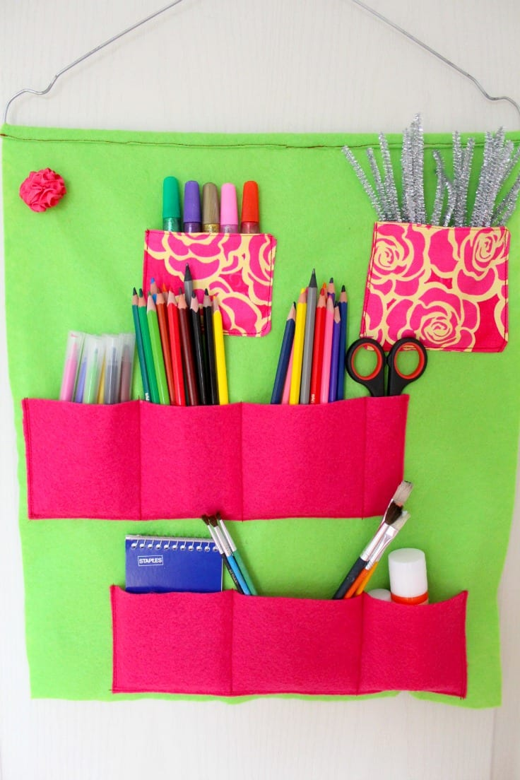 Felt organizer sewing tutorial