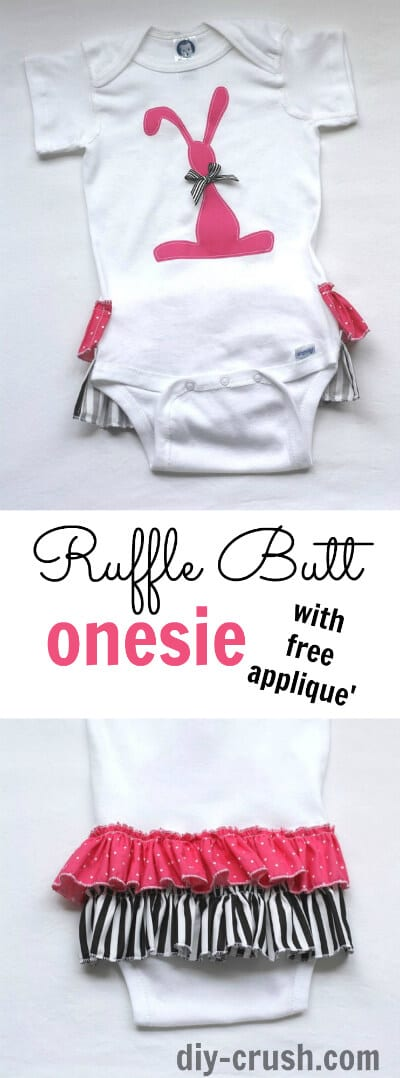 How to add ruffles to onesies
