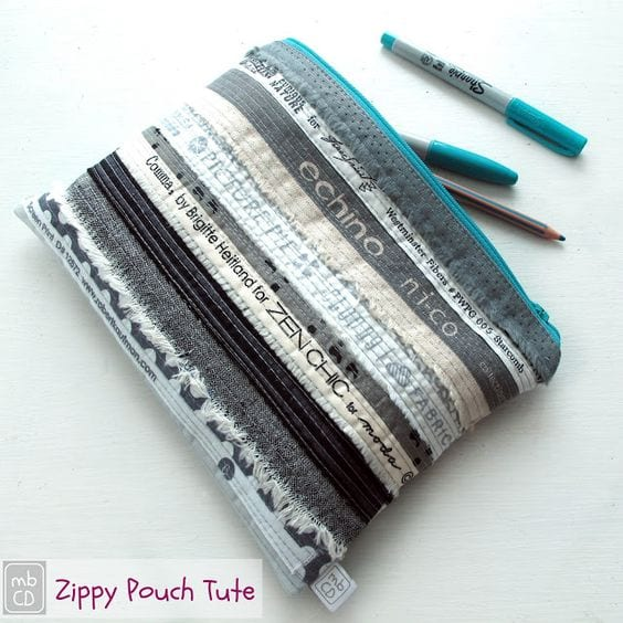 Selvedge zipper pouch tutorial