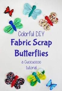 Fabric scraps butterflies tutorial
