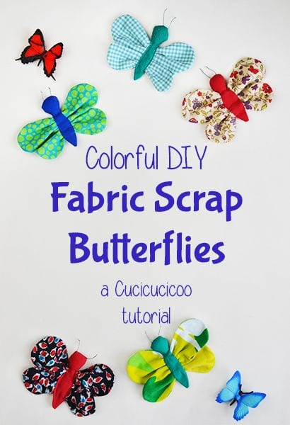 Fabric scraps butterflies tutorial