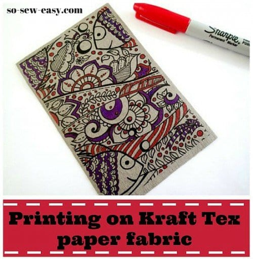 How to print and color Kraft Tex