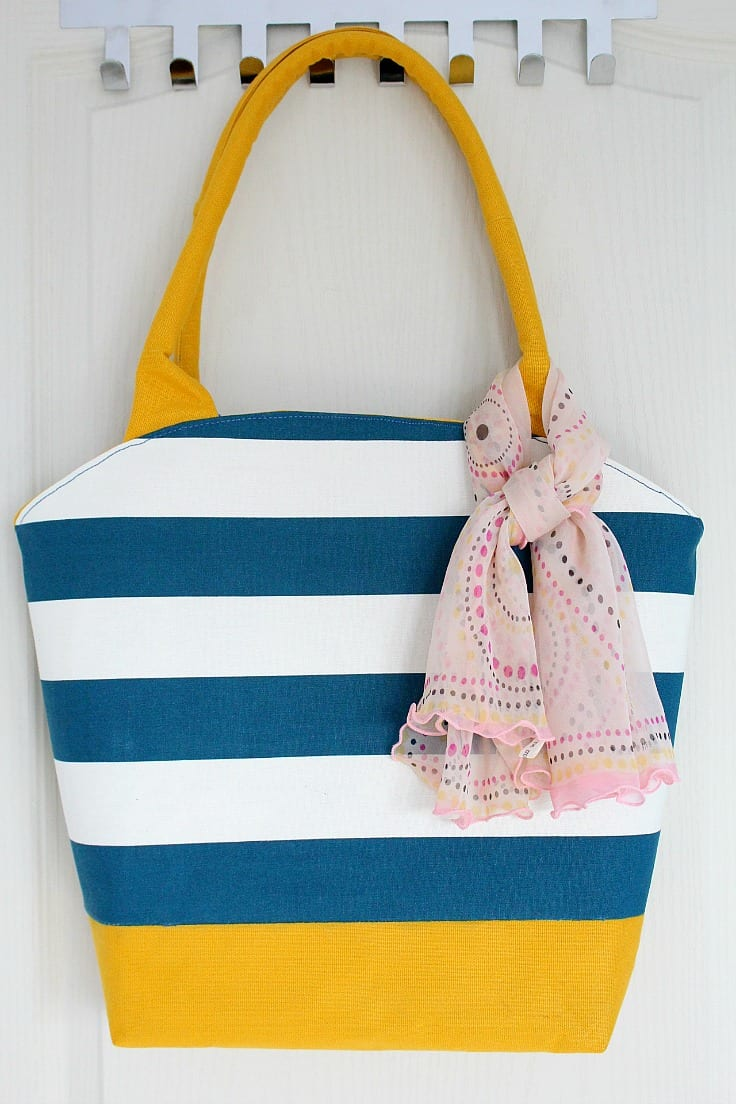 Rounded opening tote bag pattern