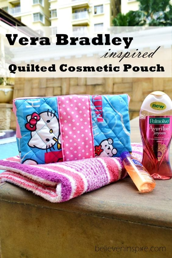 Quilted cosmetic bag tutorial