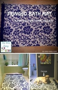 fringed bath mat tutorial