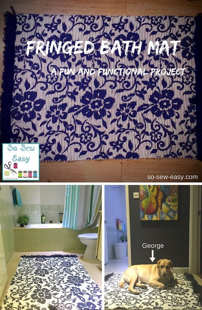 fringed bath mat tutorial