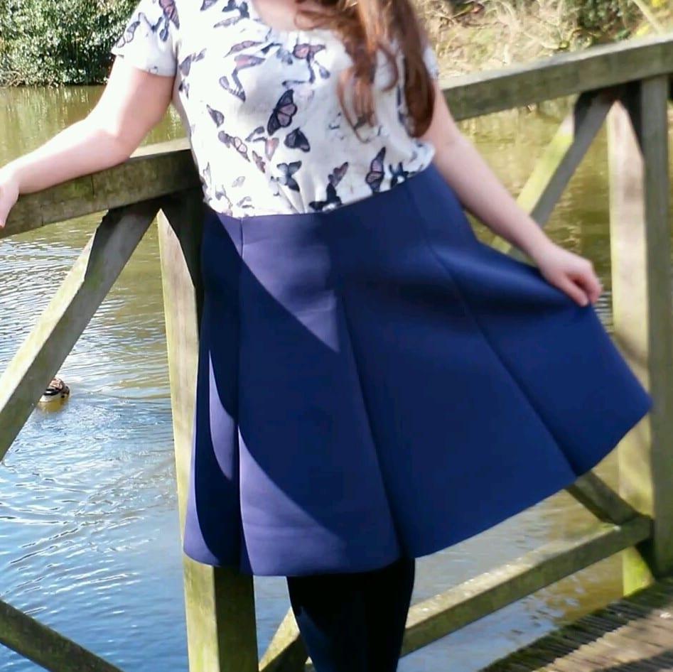 neoprene flared skirt