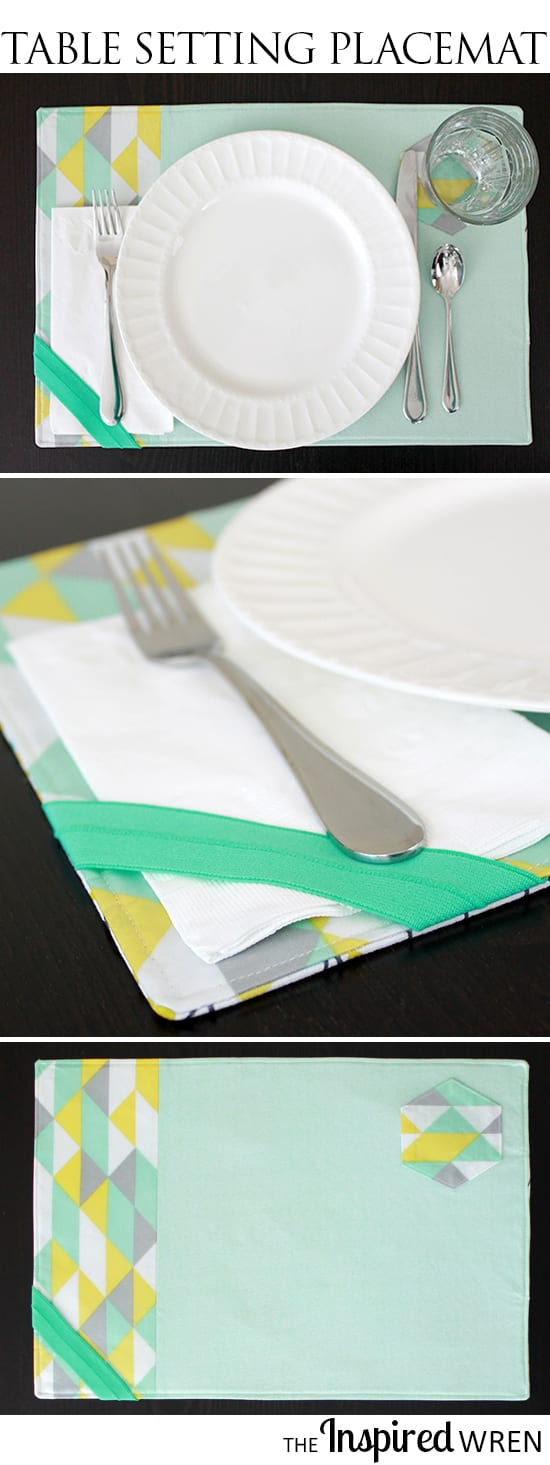 Reversible placemat sewing tutorial