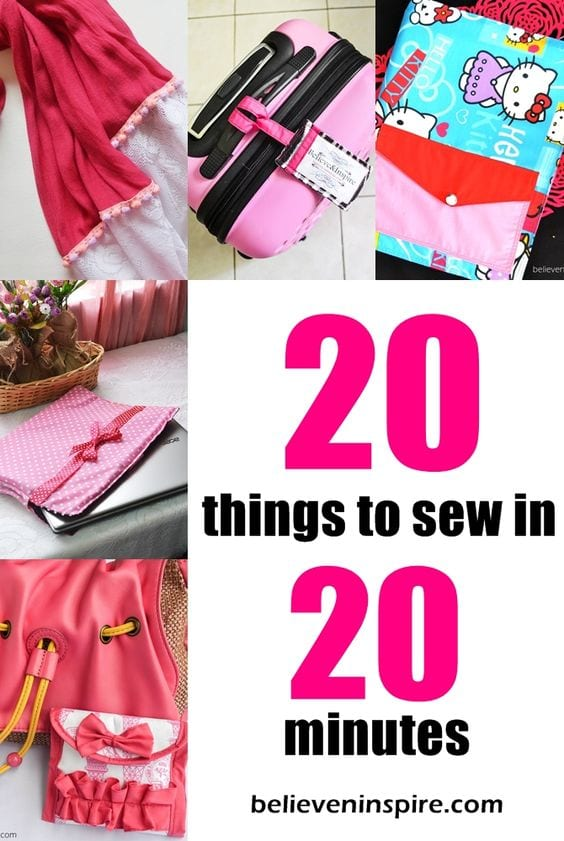 20 minutes sewing projects