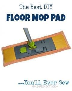 DIY floor mop pad sewing tutorial