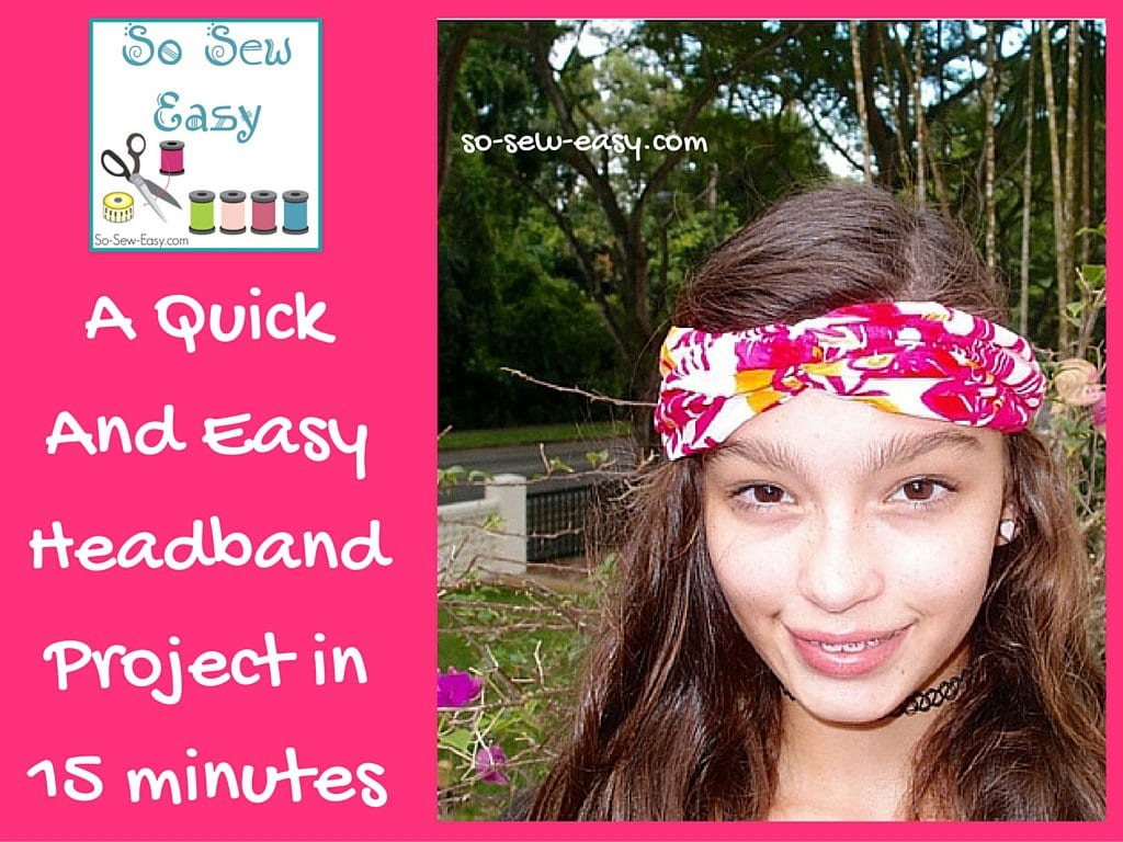 Simple headband sewing tutorial