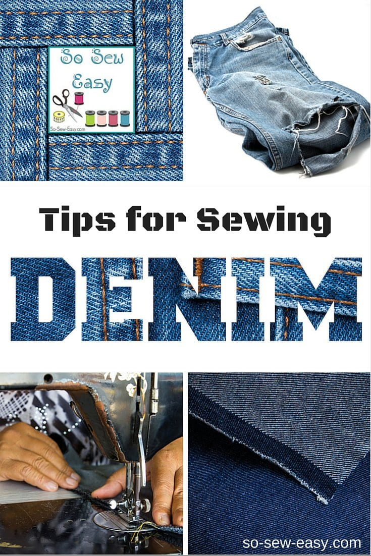 Tips for sewing denim