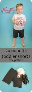 Toddler shorts pattern
