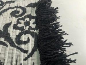 Fringe bath mat