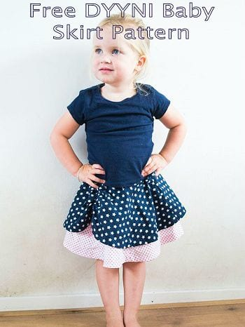 Girls gored skirt sewing pattern