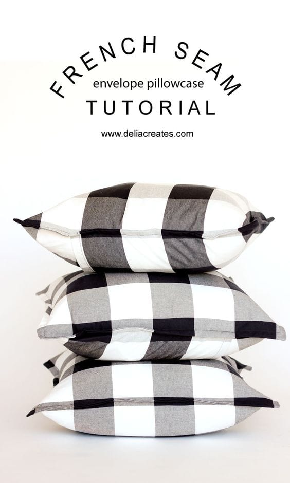 French seam envelope pillowcase tutorial