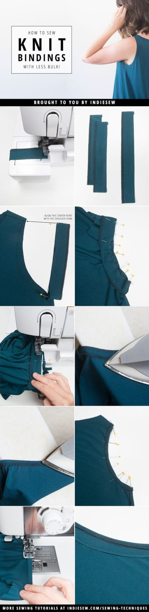 How to Sew Knit Bindings