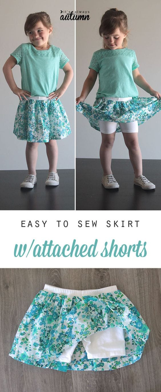 Skirt with shorts tutorial