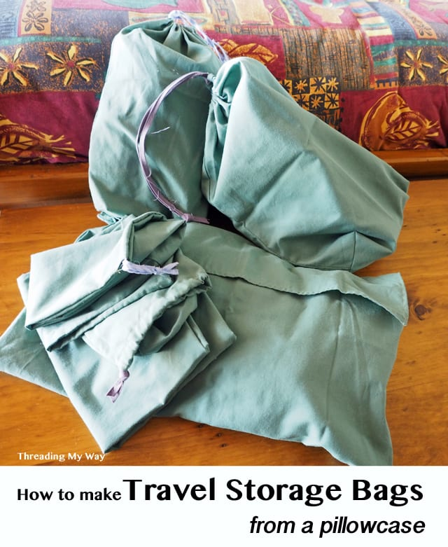 Travel storage bags tutorial