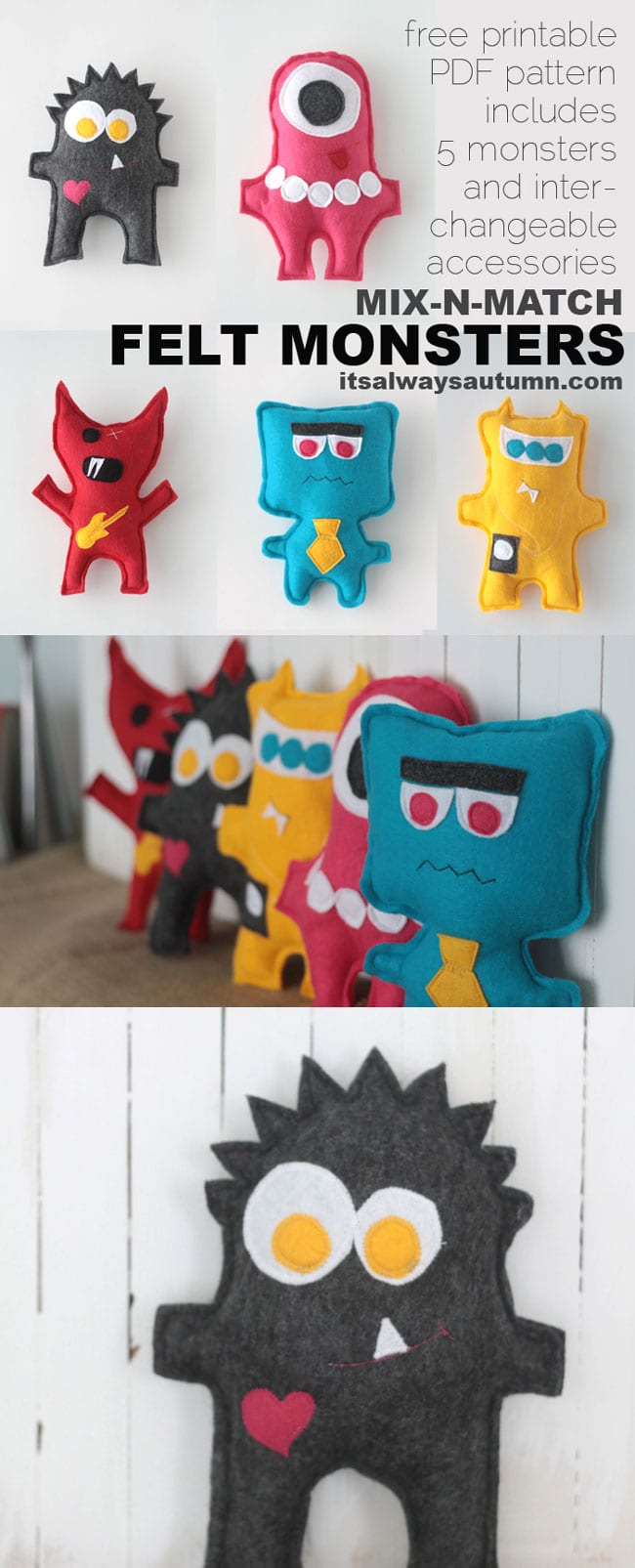 felt monsters tutorial